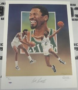 Bill Russell Signed 18x24 Celtics Lithograph PSA/DNA COA Christopher Paluso /600