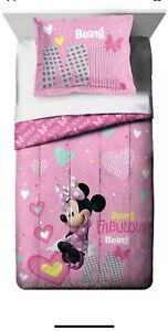 Disney Minnie Mouse Twin/Full Comforter and Sham Set For Bed - 2 Piece