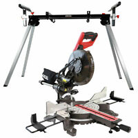 """Mitre Saw 10"""" Compound Sliding 2000W Double Bevel Cut Laser Blade with Leg Stand"""