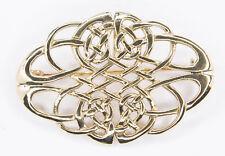 Aidan Keltische Knoten Fibel Brosche Bronze Gothic Schmuck - NEU