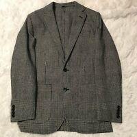J Crew Mens Size 34 Black Grey Slim Fit Thompson Blazer Glen Plaid NWT AA559