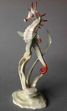 Hutschenreuther Porzellanfigur Seepferdchen Seegras Seahorse Hans Achtziger~1950