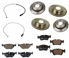 BMW E36 323i 328i 1996-1999 Front and Rear Disc Brake Pads Rotors Sensors OEM