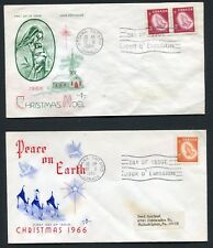 Canada 451 & 452 * 3c and 5c 1966 Christmas Issue * 2 Fdcs >