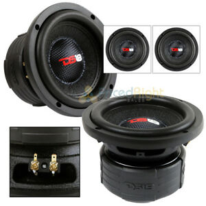 "2 DS18 Elite Z6 6.5"" Subwoofer Dual 4 Ohm 600 Watts Max Bass Sub Speaker Car"
