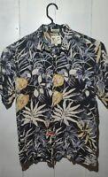 M.E. Sport Men's Short Sleeve Hawaiian Shirt 100% Rayon Size Large L