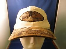 Ducks Unlimited Cloth Cap Hat Truckers Snapback Camo Bill & Logo One Size