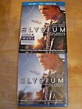 ELYSIUM: Matt Damon, Jodie Foster] Blu-ray+DVD+Digital HD] New,Sealed+ Fast Ship