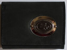 Black Leather Wallet License NFL Football San Francisco 49ers Medallion Trifold