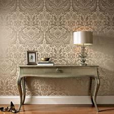 Boutique Desire Damask Taupe / Metallic Luxury Wallpaper