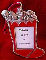 NEW - Photo Frame CHRISTMAS TREE ORNAMENT - STOCKING/TOYS - Photo/Msg Stand/Hang
