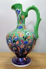 Ceramic Turkish Luxurious Jug Water Vase Handmade Traditional Art Pottery (F).