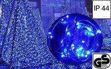 LED 40 Lichterkette Weihnachtslichterkette Außen Innen Beleuchtung Blau 3140-400
