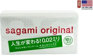 Sagami Original 002 10pcs Ultra Thin Condom 0.02 mm Made in Japan (US seller)