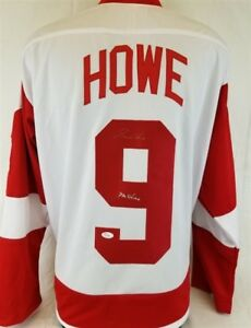 "Gordie Howe ""Mr Hockey"" Signed Detroit Red Wings Custom Jersey (JSA COA)"