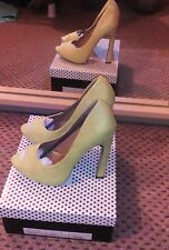 Odeon Women's Lime High Heel Peep Toe Shoes New Size 6 RRP£25