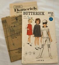 Vintage UNCUT 60s Butterick 3715 Sewing Pattern Dress Jumper Size 4 Breast 23
