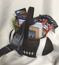 Football Theme Gift Basket Goodies Business Tie Pen Wine Opener Fathers Day Gift