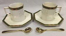 Vintage Yamaka David Jones Tea Time Collection with gold plated spoons