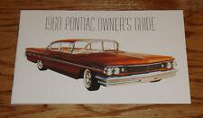 1960 Pontiac Owners Operators Manual 60 Star Chief Bonneville