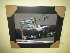Lewis Hamilton {Formula 1} Excellent Hand Photo (8x10) Framed With CoA