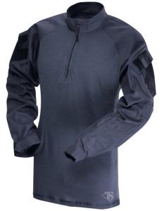 Tru-Spec Men's T.r.u. 1/4 Zip Combat Shirt - Navy Medium - with Elbow Pads New