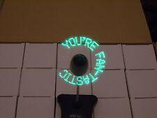 10 X GPM-Tech Usb/mensaje de base digital alimentado por batería LED ventiladores Portátil de plomo.