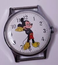 Vintage 1970 Timex Mickey Mouse Watch Walt Disney Productions Working!