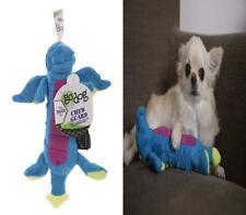 goDog Skinny Dragons with Chew Guard Durable Plush Dog Toys Small, Blue