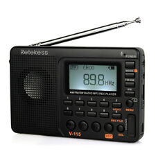 Retekess V115 Tragbarer FM/AM/SW Radio MP3-Player Wiederaufladbar Recorder Gift