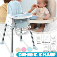 Kids Highchair Feeding Dining Chair Tables Height-adjust Booster Max Load 75kg