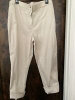 "CHICOS WOMENS PANTS ""CROPPED"" SAND Size 14 NWOT  ""CHICO"" Size 2.5"