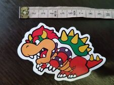 BOWSER MARIO sticker decal book laptop mirror wall unused unstuck quality