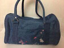 LTZ Magic Studios Santa Barbara Denim Bag Travel Athletic Duffle Handbag Medium