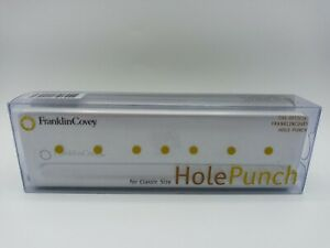 FranklinCovey Classic Franklin Planner 7-hole Organizer Paper Hole Punch New