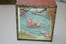 "Winnie the Pooh Shadow Box Music Box Plays motion ""Christopher Robin"" Charpente"