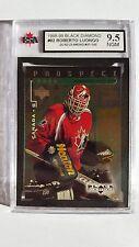 Roberto Luongo 1998-99 Quad Black Diamond Emerald Rookie Card 57/100 Graded 9.5!
