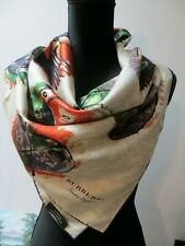 NWT BURBERRY LONDON ENGLAND 100%  SILK  SCARF/SHAWL MADE IN ITALY