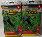2/6-packs Adams Plastic Tie-Down Stakes for Anchoring Tents, Tarps, Inflatables