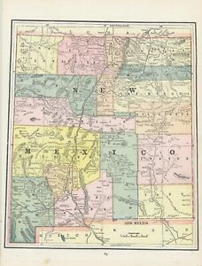 "1891 Cram ""New Mexico"" [Territory]"