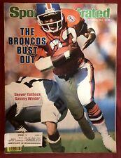 Sports Illustrated October 8, 1984 Denver Broncos Sammy Winder