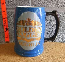 GOLDEN NUGGET Nevada vtg coffee mug Laughlin motorcycle cup tropical Casino