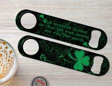 Ireland Pride Personalized Irish Bartender Bar Blade Custom Speed Bottle Openers