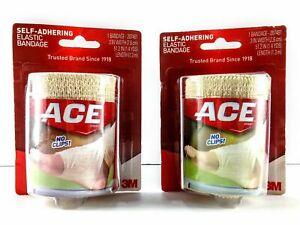 "ACE Bandage Self Adhering Elastic 3"" X 51"" 2 Pack Lot NEW"