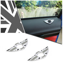 Gray rice Wing Car Door Lock Knobs Pins Central Locking For MINI Cooper F55 F56