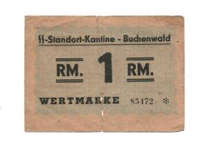 BUCHENWALD , SS CANTEEN MONEY, ORIGINAL ITEM