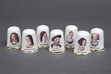 Henry VIII & His 6 Wives Set of 7 China Thimbles B/46