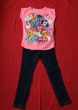 GIRLS 2 PC SET CUTE PINK MY LITTLE PONY SHIRT SIZE S OLD NAVY JEANS  NWT SIZE 7
