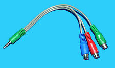 30075629 RED BLUE GREEN  INPUT LEAD TOSHIBA 40D1333B 3.5MM TO 3RCA ADAPTER CABLE
