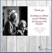 10 x PERSONALISED PHOTO BIRTHDAY THANKYOU CARD ANY AGE/OCCASION WITH ENVELOPE
